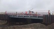 Schutznetz Montage Autobahnbrücke Fürfeld (Seitenschutznetze)