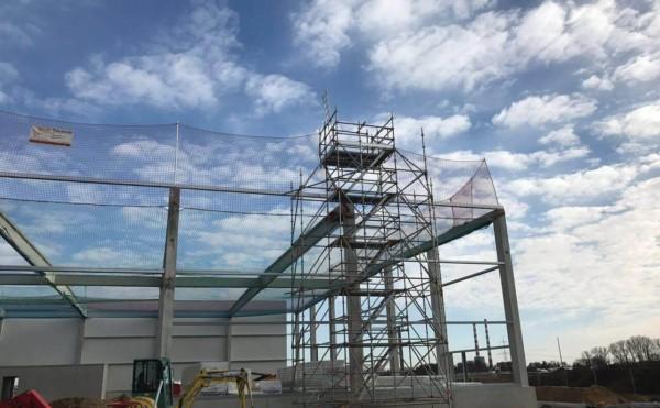 Schutznetz Montage Industriehallen Neubau Kirchheim Teck