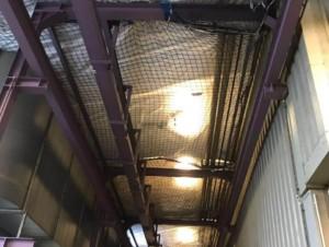 Netzmontage mit Folie in Karlsruhe (Industriehallen-Sanierung)