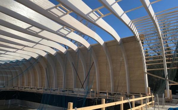 Absturzsicherung / Baustellensicherung für ein neues Hallenbad