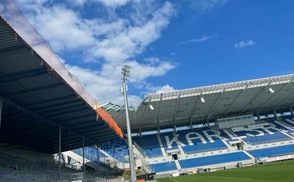 Dachrandsicherung Fußballstadion Karlsruhe